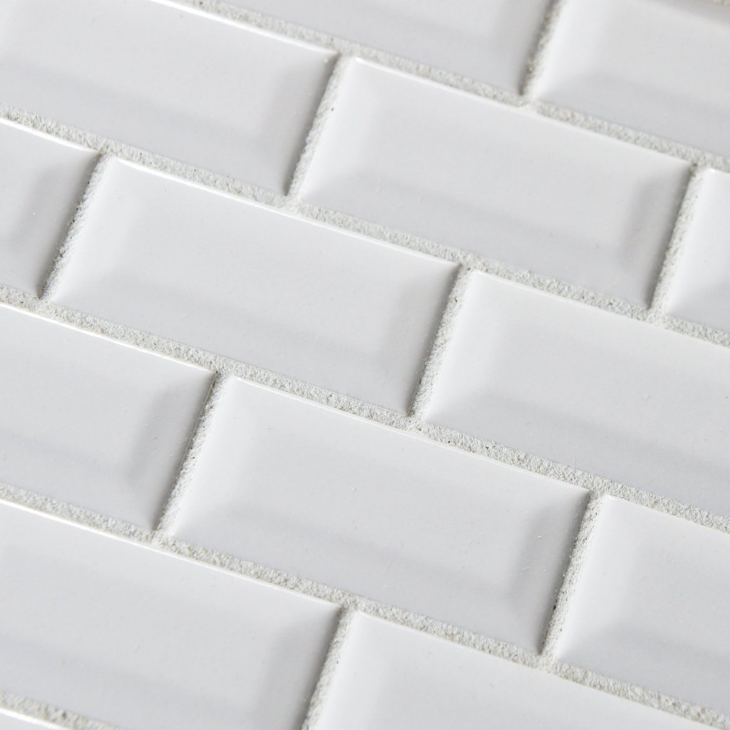 Buy pure white bevel subway 3x6 glossy ceramic subway tile buy pure white bevel subway 3x6 glossy ceramic subway tile shadesofstone dailygadgetfo Image collections